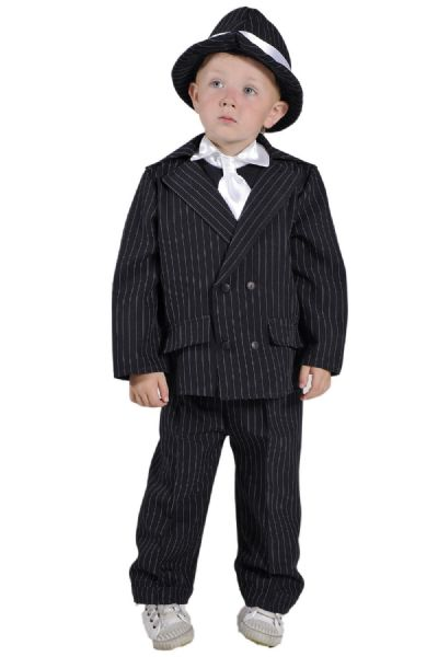 Children's Kids Boys Gangster Bugsy Malone Fancy Dress Up Costume Outfit